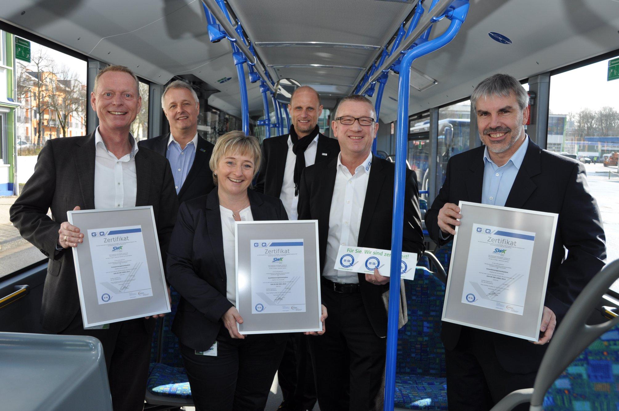 SWK Verkehrs-AG erfolgreich zertifiziert