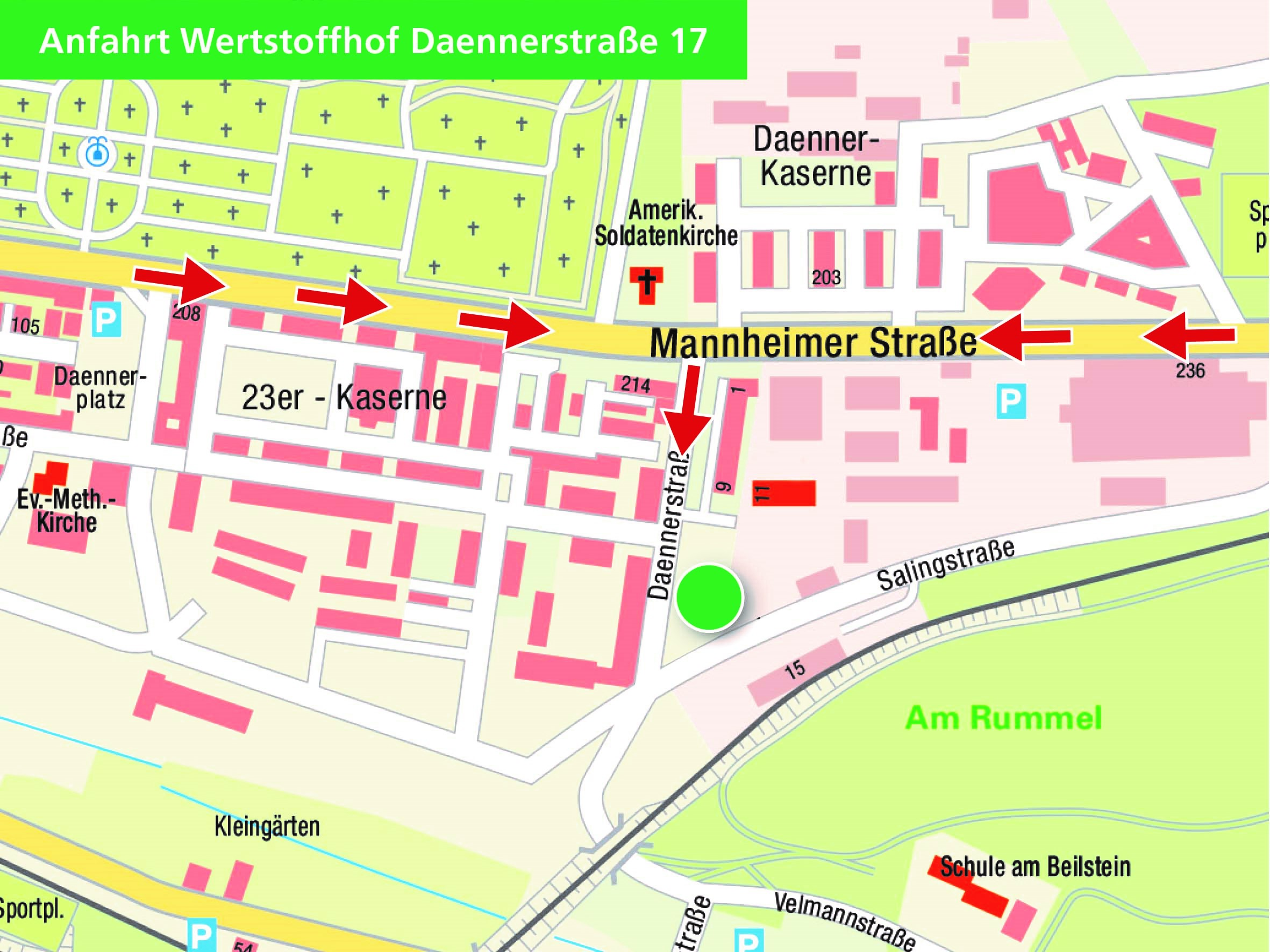 Wertstoffhof in der Daennerstraße öffnet ab dem 27. April