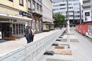 """Baufortschritt Schillerplatz: """"Das sieht schon richtig gut aus!"""""""