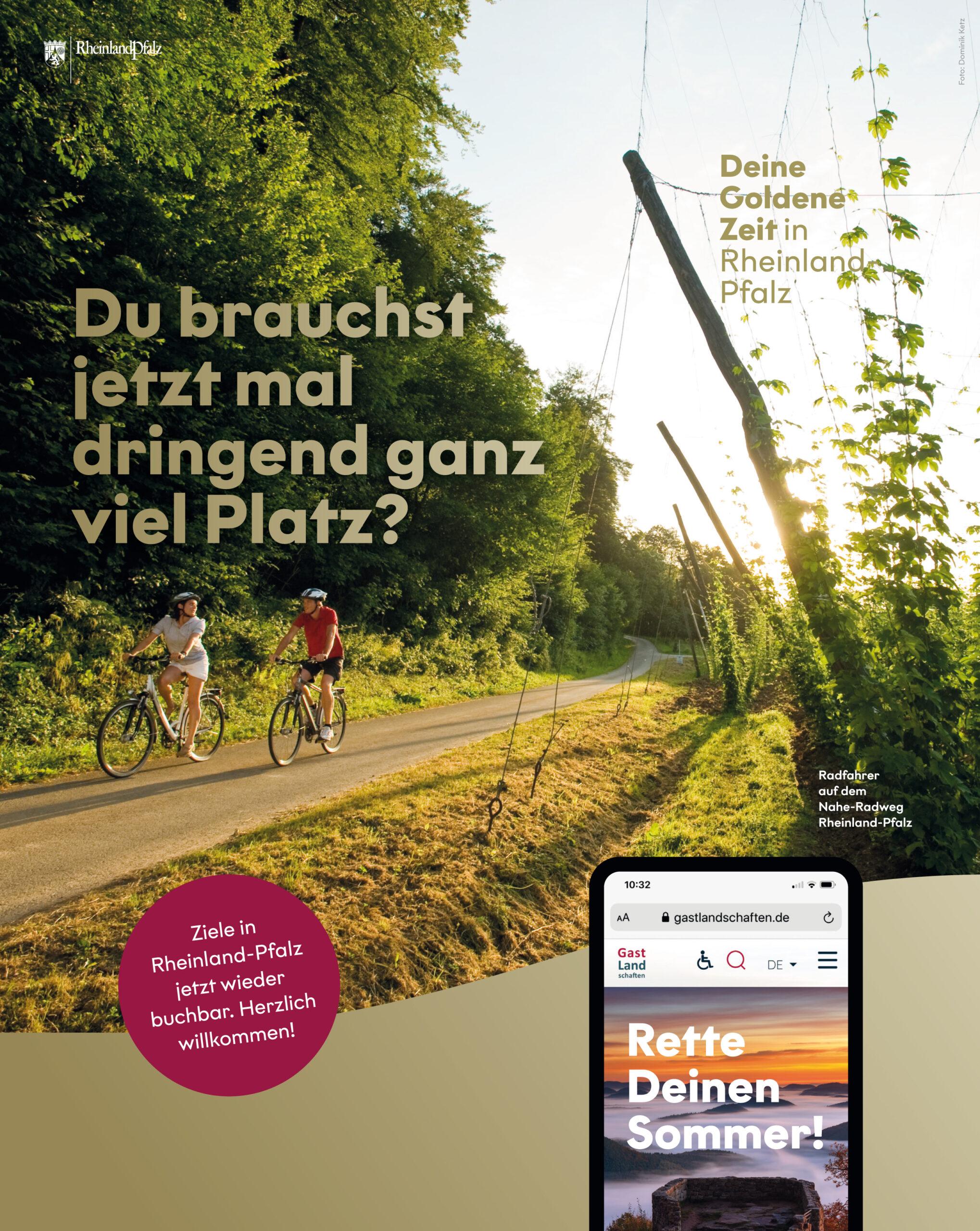 """Neue Tourismuskampagne für RLP: """"Deine Goldene Zeit in Rheinland-Pfalz"""""""