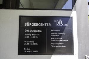 Bürgercenter Kaiserslautern: Abholung von Ausweisdokumenten ohne Termin möglich. Andere Dienstleistungen weiterhin nur mit Anmeldung