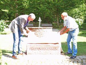Friedensbrunnen ist die Nummer 42 der städtischen Brunnen