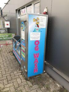 Hunde-Waschautomat aufgebrochen