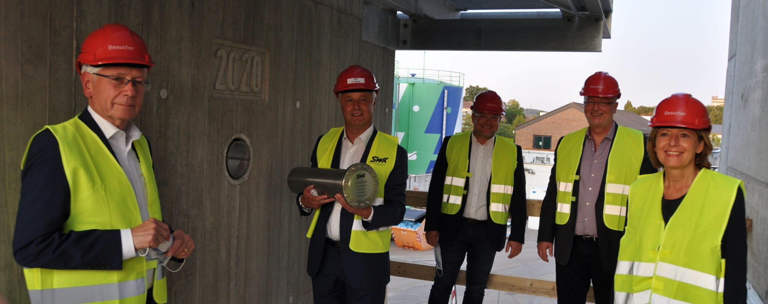 Ministerpräsidentin zu Besuch im Heizkraftwerk der SWK Stadtwerke Kaiserslautern