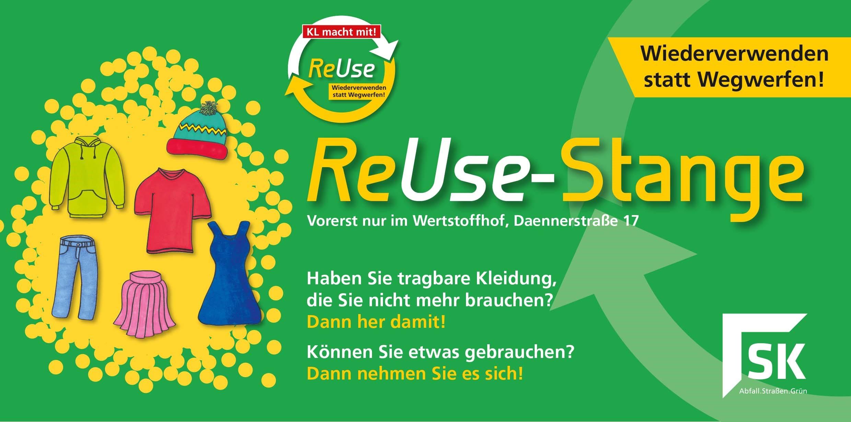 ReUse-Stange auf dem Wertstoffhof Daennerstraße