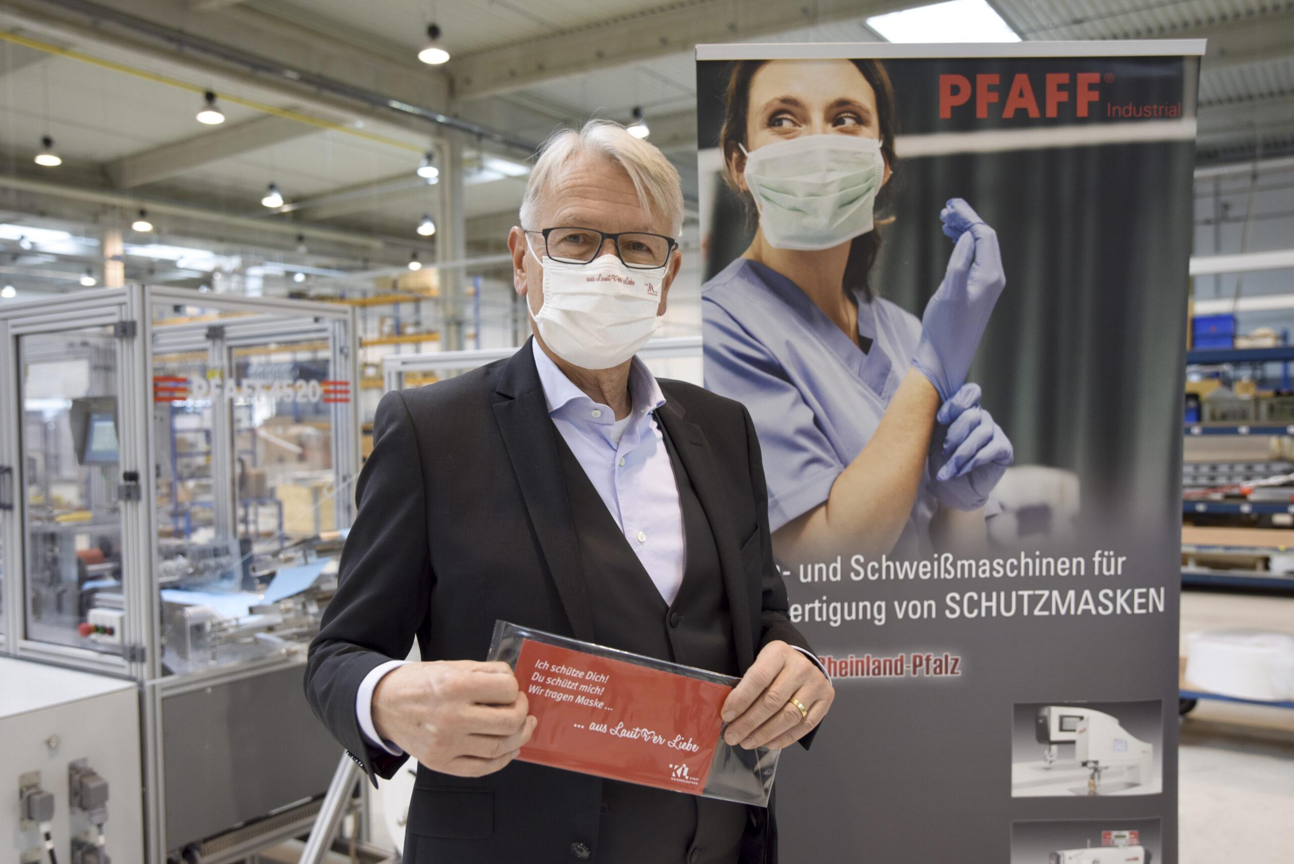 Hohe Nachfrage nach Lauterer Hightech-Masken