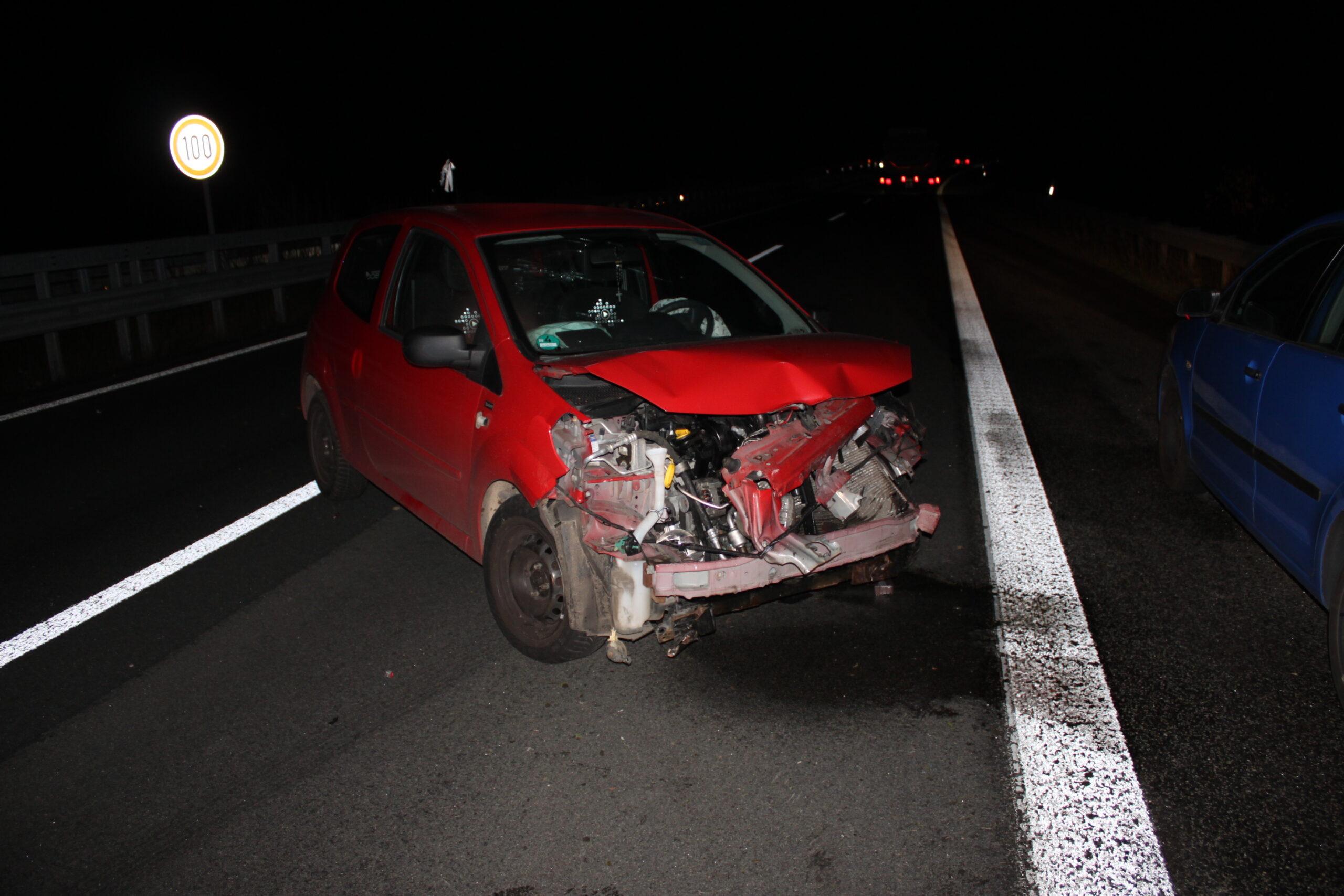 A63/Kaiserslautern, Nach Fahrstreifenwechsel Kontrolle verloren