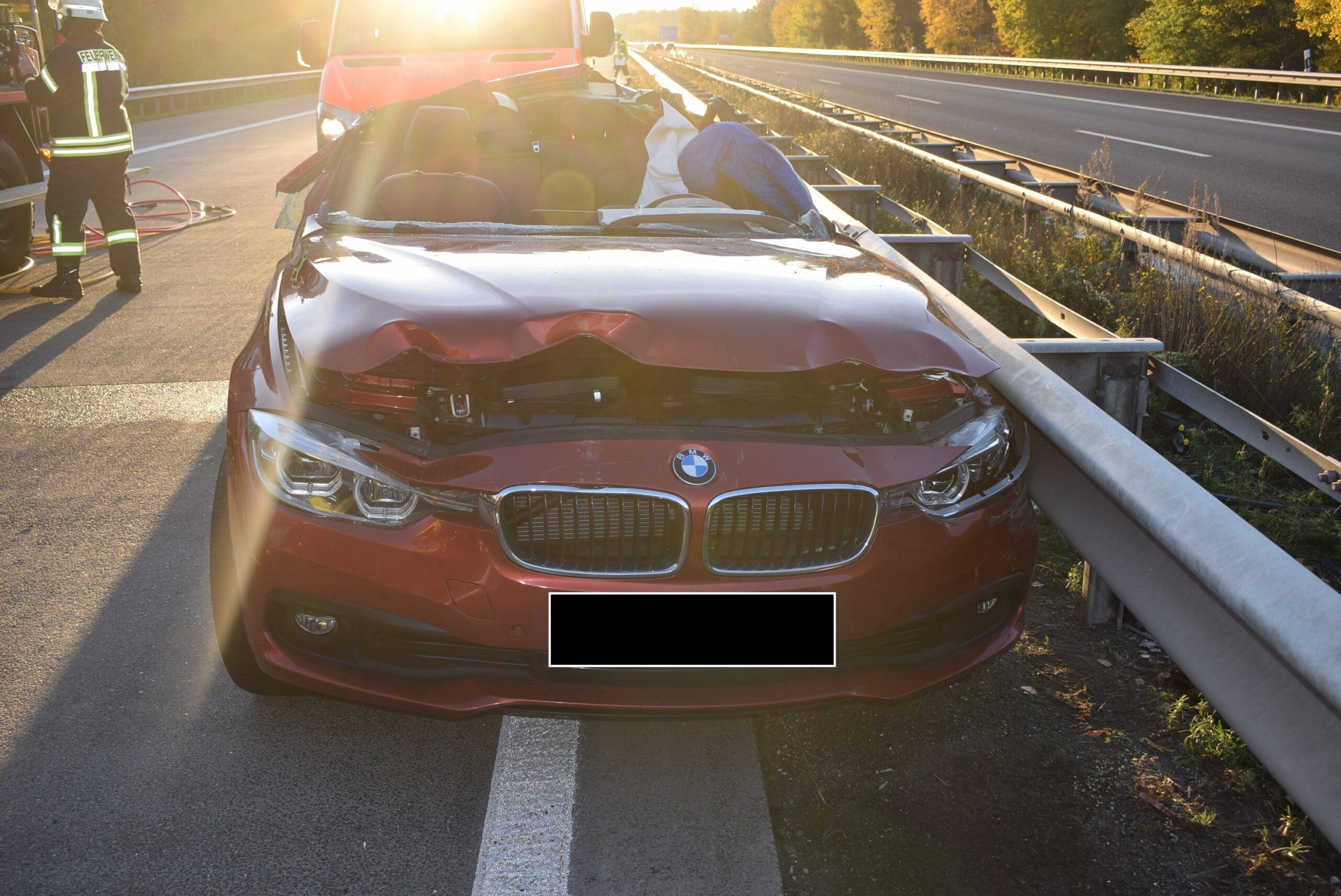 BAB 6, Zwei Schwerverletzte bei Verkehrsunfall