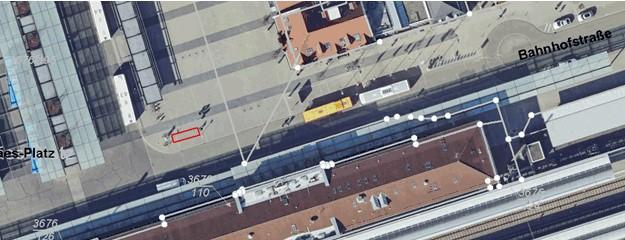 Neue Abstellfläche für E-Scooter am Hauptbahnhof