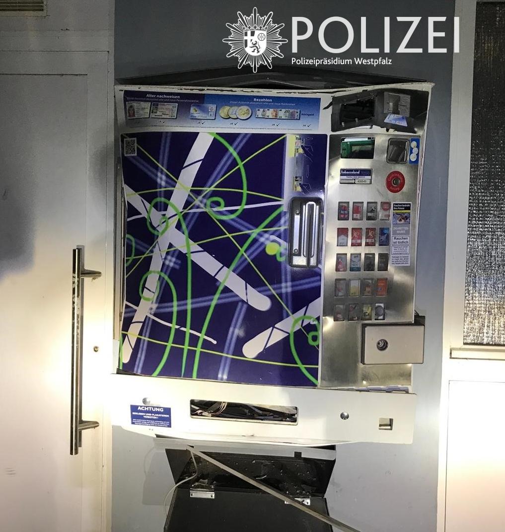 Erneut versucht Zigarettenautomat zu sprengen