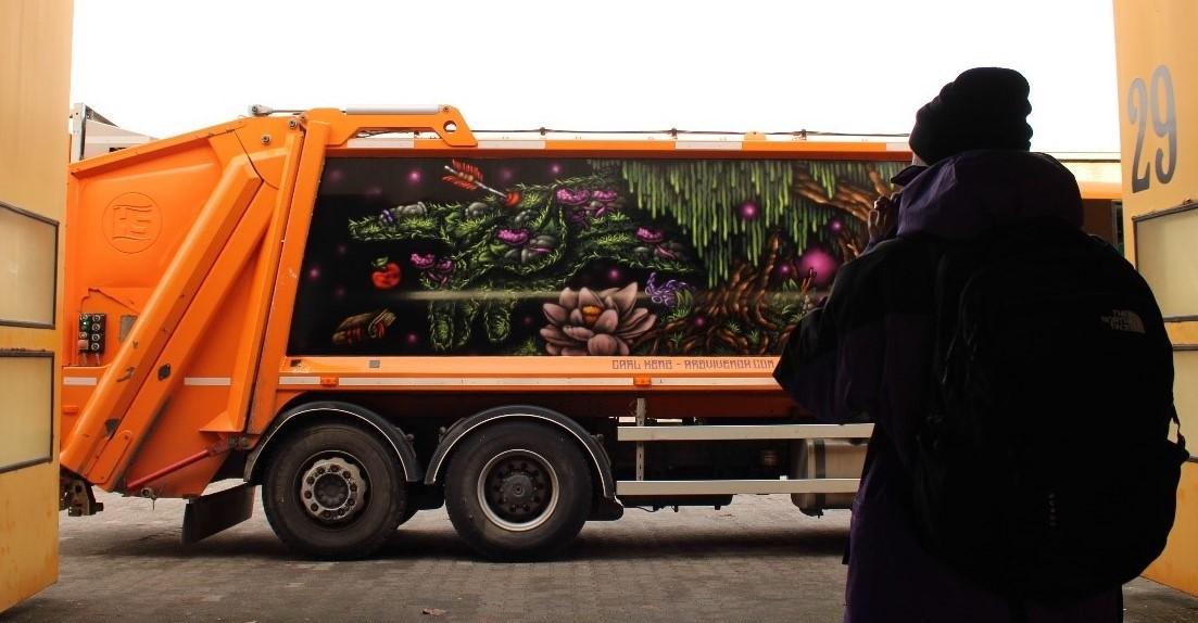 Was haben nachhaltige Abfallwirtschaft, Kunst und Graffiti-Problematik gemein?