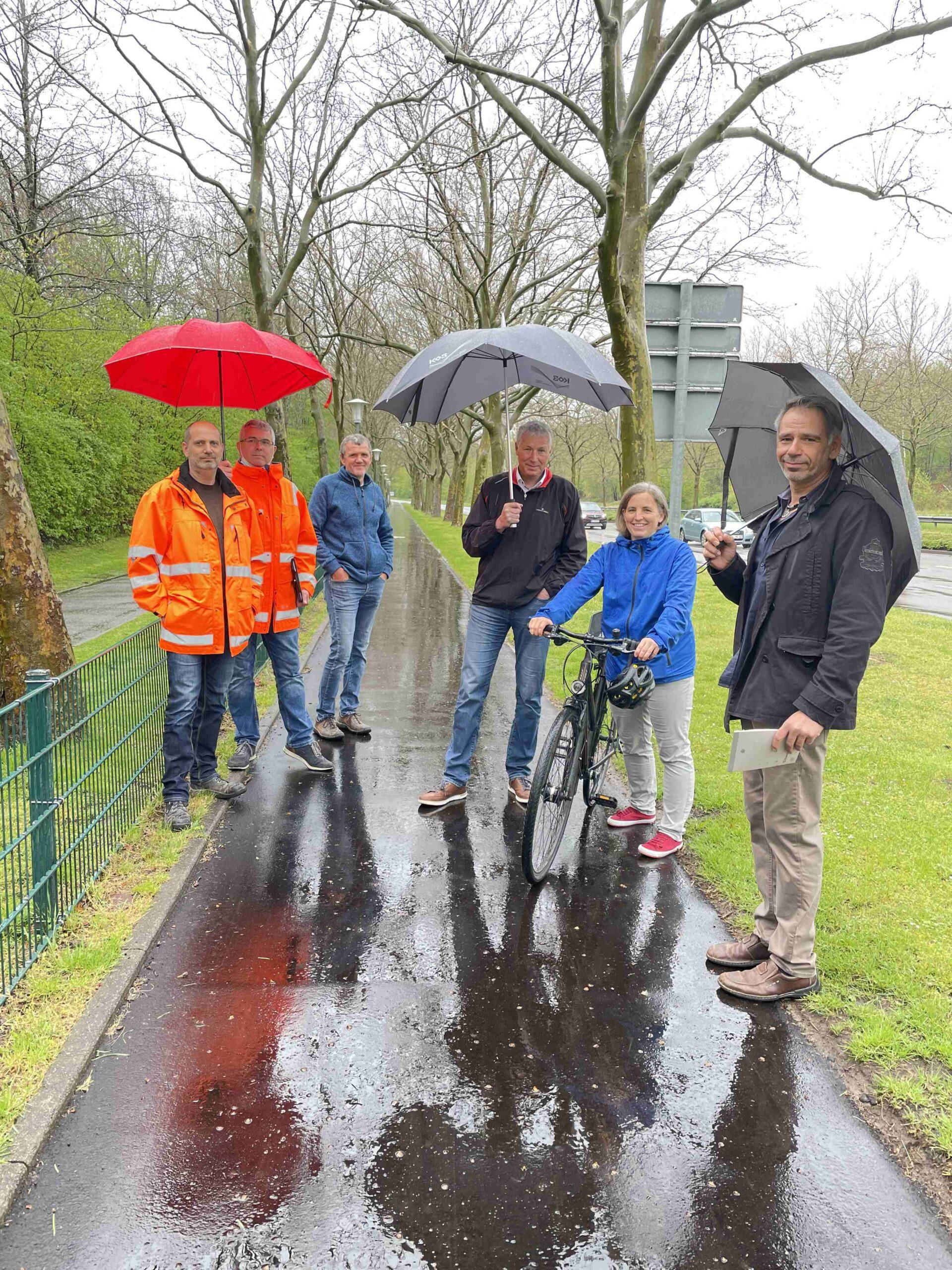 Radweg entlang der Entersweiler Straße erneuert