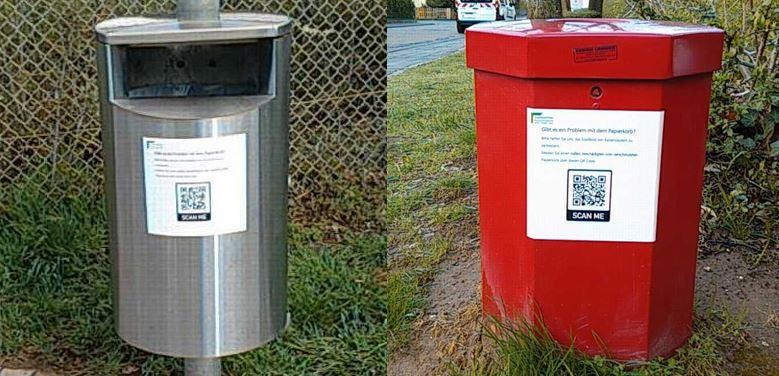 Papierkörbe in Dansenberg sind digital