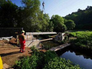 Neue Brücke über die Lauter