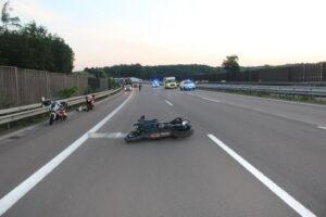 Motorradunfall zwar mit Glück im Unglück, aber ohne Führerschein