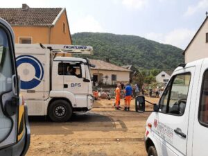 Stadtentwässerung und WVE im Katastrophengebiet