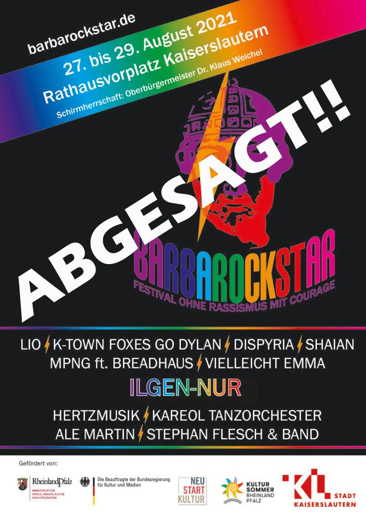 """Absage """"Barbarockstar-Festival mit Courage ohne Rassismus"""""""