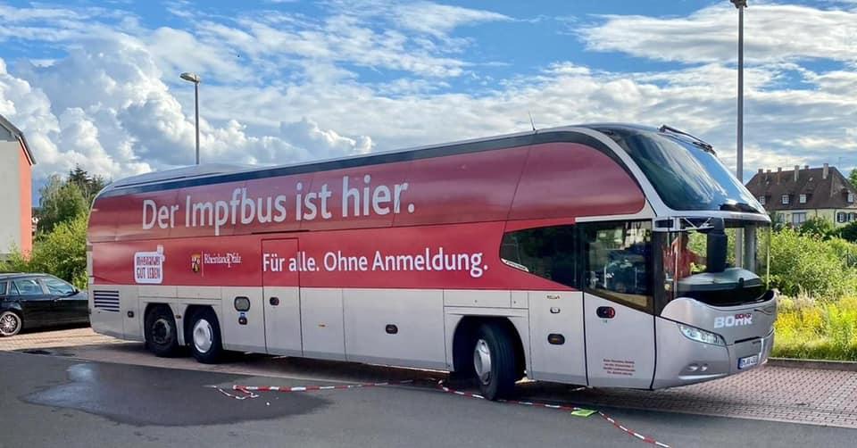 Termine der Impfbusse in Stadt und Landkreis Kaiserslautern ab 13. September