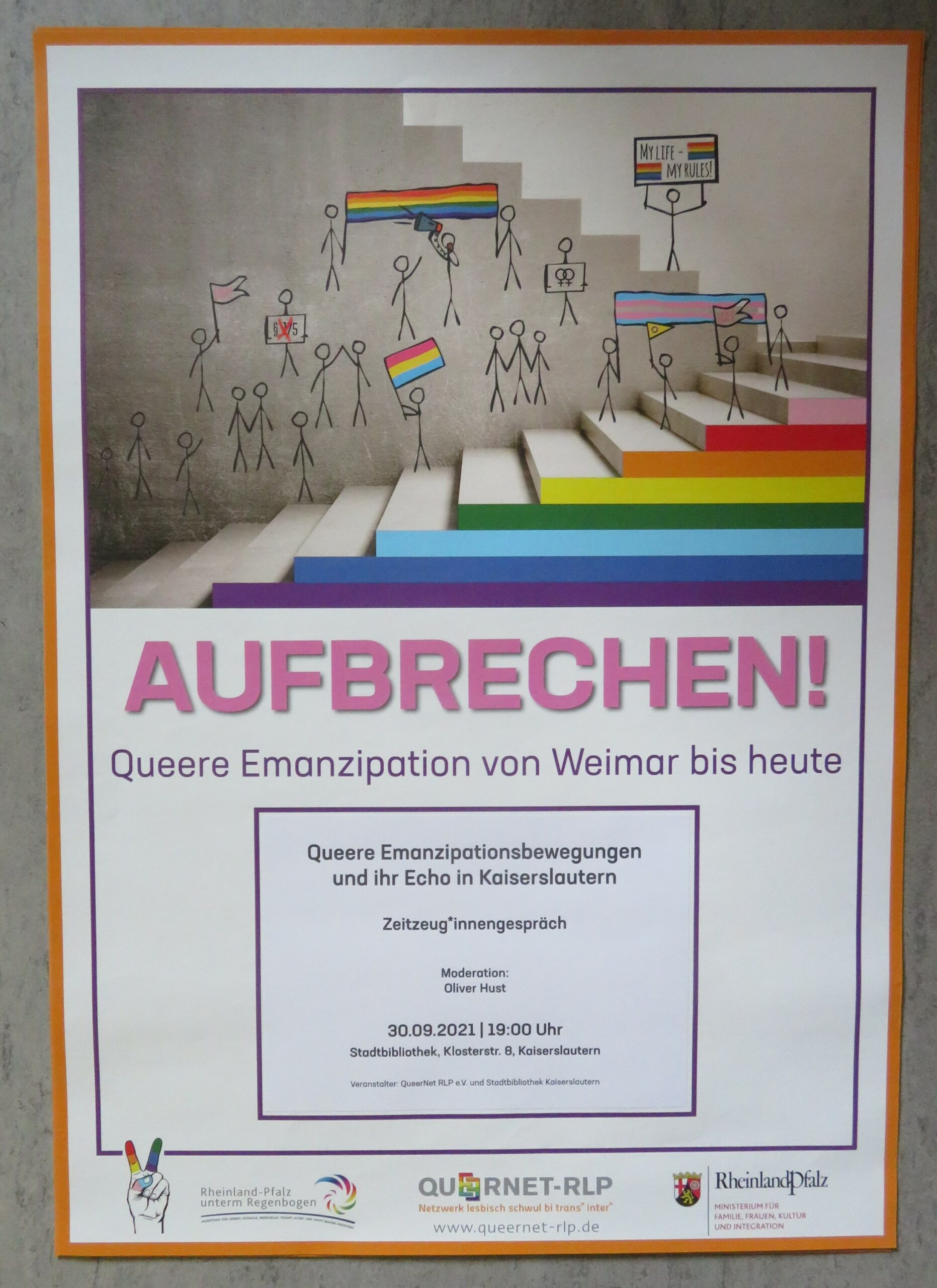 """""""Queere Emanzipationsbewegungen und ihr Echo in Kaiserslautern"""""""
